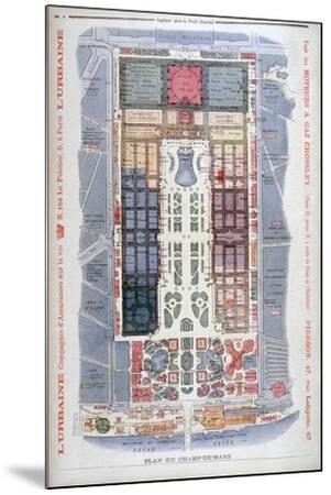 The Champs De Mars, Universal Exhibition of 1900, Paris, 1900-G Rochet-Mounted Giclee Print