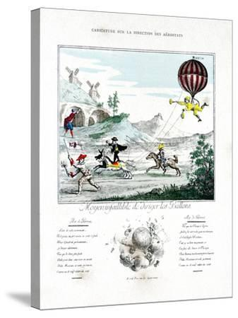 Caricature on the Direction of the Aerostat, 1887-Gaston Tissandier-Stretched Canvas Print
