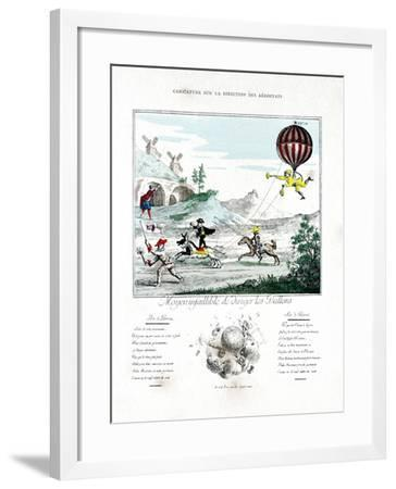 Caricature on the Direction of the Aerostat, 1887-Gaston Tissandier-Framed Giclee Print