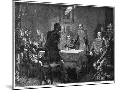 Discussing the Surrender of France after the Battle of Sedan, Franco-Prussian War, 1870-Georg Bleibtreu-Mounted Giclee Print