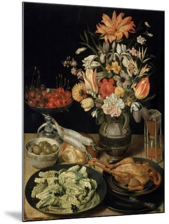 Still Life with Flowers and Snack, C1630-C1635-Georg Flegel-Mounted Giclee Print