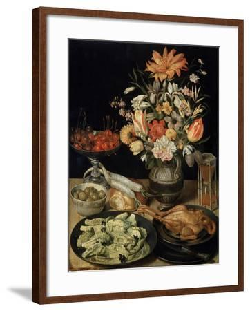 Still Life with Flowers and Snack, C1630-C1635-Georg Flegel-Framed Giclee Print