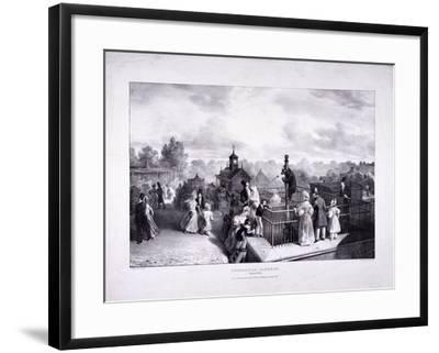 Zoological Gardens, Regent's Park, Marylebone, London, 1835-George Scharf-Framed Giclee Print