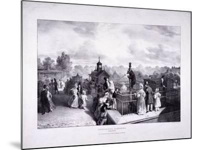Zoological Gardens, Regent's Park, Marylebone, London, 1835-George Scharf-Mounted Giclee Print