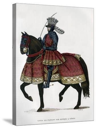 Louis XII, King of France, on Horseback, 1498-1515 (1882-188)- Gautier-Stretched Canvas Print