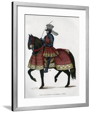 Louis XII, King of France, on Horseback, 1498-1515 (1882-188)- Gautier-Framed Giclee Print