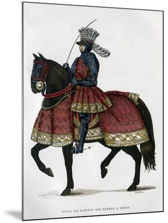 Louis XII, King of France, on Horseback, 1498-1515 (1882-188)- Gautier-Mounted Giclee Print