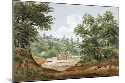 View from the Excavations of Highgate Tunnel, London, 1812-George Arnald-Mounted Giclee Print
