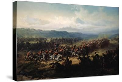 Charge of the English Light Brigade at the Battle of Balaclava on 25 October 1854, 19th Century-Friedrich Kaiser-Stretched Canvas Print