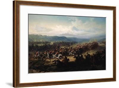 Charge of the English Light Brigade at the Battle of Balaclava on 25 October 1854, 19th Century-Friedrich Kaiser-Framed Giclee Print