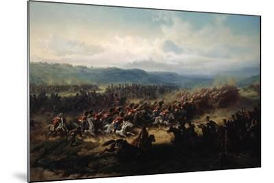 Charge of the English Light Brigade at the Battle of Balaclava on 25 October 1854, 19th Century-Friedrich Kaiser-Mounted Giclee Print