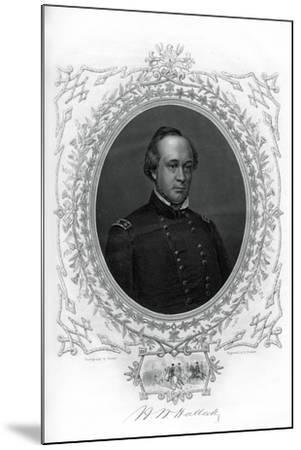 General Henry Wager Halleck, Senior Union Army Commander, 1862-1867-G Stodart-Mounted Giclee Print