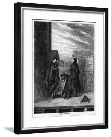 Simon Renard and Winwike the Warden on the Roof of the White Tower, 1553-George Cruikshank-Framed Giclee Print