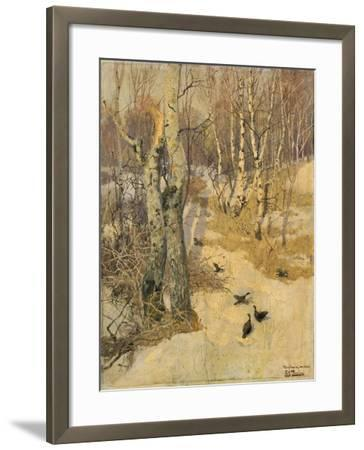 Woods Covered with Snow, 19th Century-Frits Thaulow-Framed Giclee Print