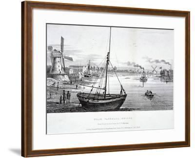 Vauxhall Bridge, London, 1829-FV Martens-Framed Giclee Print