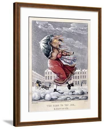 The Same to You Sir, and Many of 'Em, 1827-George Hunt-Framed Giclee Print
