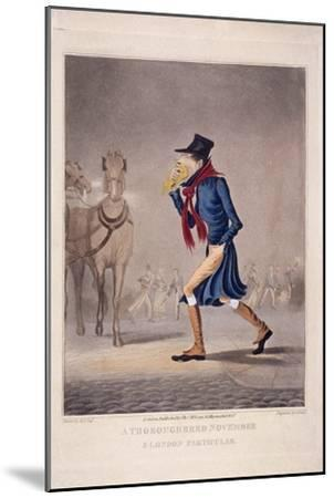 A Thoroughbred November and London Particular, 1827-George Hunt-Mounted Giclee Print