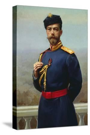 Tsar Nicholas II of Russia with the Cross of Saint Vladimir, 1905-Genrich Maniser-Stretched Canvas Print