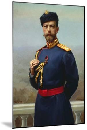 Tsar Nicholas II of Russia with the Cross of Saint Vladimir, 1905-Genrich Maniser-Mounted Giclee Print