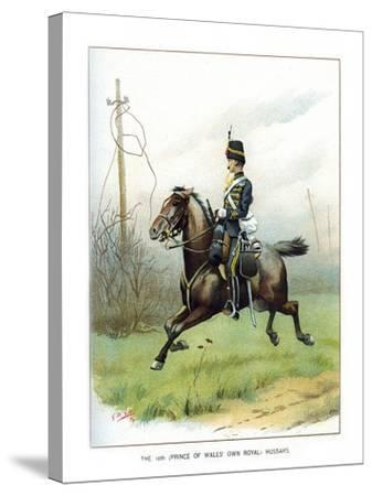 The 10th (Prince of Wales' Own Roya) Hussars, C1890-Geoffrey Douglas Giles-Stretched Canvas Print