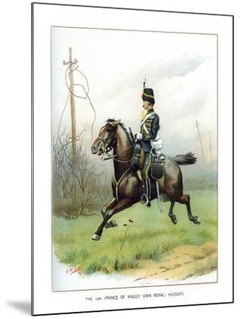 The 10th (Prince of Wales' Own Roya) Hussars, C1890-Geoffrey Douglas Giles-Mounted Giclee Print