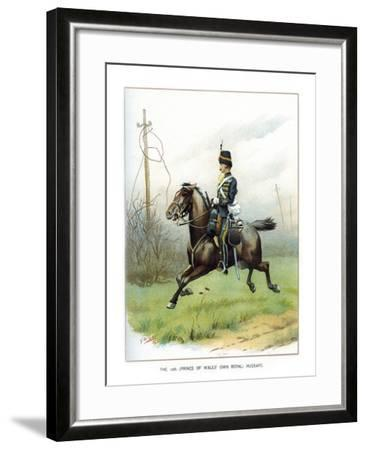 The 10th (Prince of Wales' Own Roya) Hussars, C1890-Geoffrey Douglas Giles-Framed Giclee Print
