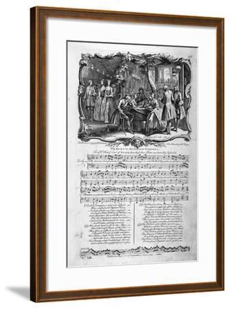 The Adieu to the Spring-Gardens, 1737-George Bickham-Framed Giclee Print