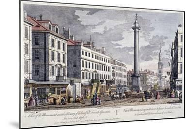 Monument, London, 1794-George Bickham-Mounted Giclee Print
