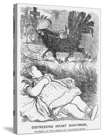 Distressing Infant Nightmare, 1865-George Du Maurier-Stretched Canvas Print