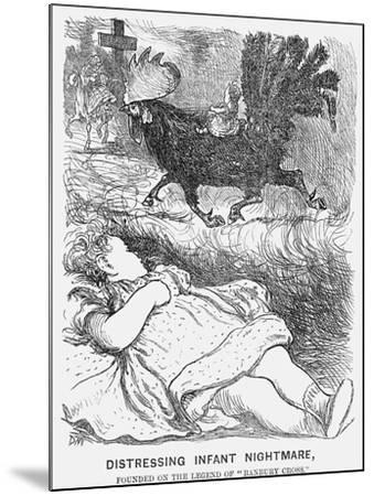 Distressing Infant Nightmare, 1865-George Du Maurier-Mounted Giclee Print