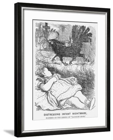 Distressing Infant Nightmare, 1865-George Du Maurier-Framed Giclee Print