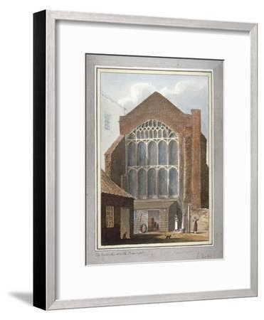 Southwark Cathedral, London, 1825-G Yates-Framed Giclee Print