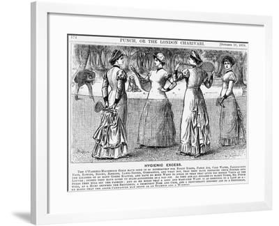 Hygienic Excess, 1879-George Du Maurier-Framed Giclee Print