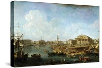 Stock Exchange and Admiralty as Seen from the Peter and Paul Fortress, St Petersburg, 1810-Fyodor Yakovlevich Alexeev-Stretched Canvas Print