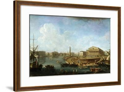 Stock Exchange and Admiralty as Seen from the Peter and Paul Fortress, St Petersburg, 1810-Fyodor Yakovlevich Alexeev-Framed Giclee Print