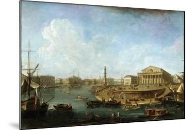 Stock Exchange and Admiralty as Seen from the Peter and Paul Fortress, St Petersburg, 1810-Fyodor Yakovlevich Alexeev-Mounted Giclee Print