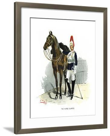 The Horse Guards, C1890-Geoffrey Douglas Giles-Framed Giclee Print