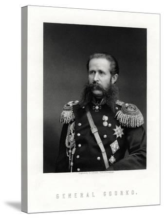 Iosif Vladimirovich Gurko, Russian Field Marshal, 19th Century-George J Stodart-Stretched Canvas Print