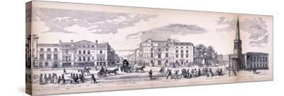 Panorama of London, 1849-George C Leighton-Stretched Canvas Print