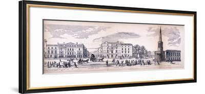 Panorama of London, 1849-George C Leighton-Framed Giclee Print