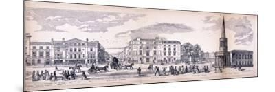 Panorama of London, 1849-George C Leighton-Mounted Giclee Print