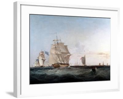 Merchantmen and Other Shipping in the English Channel, 19th Century-George Chambers-Framed Giclee Print