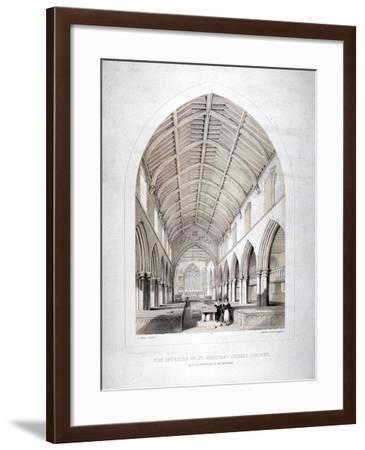 Church of St Dunstan, Stepney, London, 1846-George Childs-Framed Giclee Print
