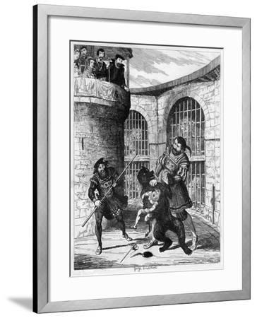 Gog Extricating Xit from the Bear in the Lions' Tower, 1840-George Cruikshank-Framed Giclee Print
