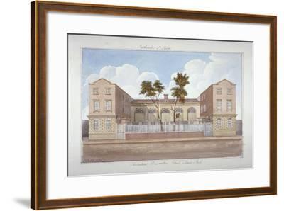 The Protestant Dissenters' School, Maze Pond, Bermondsey, London, 1825-G Yates-Framed Giclee Print