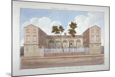 The Protestant Dissenters' School, Maze Pond, Bermondsey, London, 1825-G Yates-Mounted Giclee Print