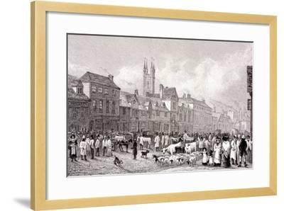 Smithfield Market, London, C1830-George Cooke-Framed Giclee Print