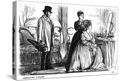 Aggravating Flippancy, 1870-George Du Maurier-Stretched Canvas Print