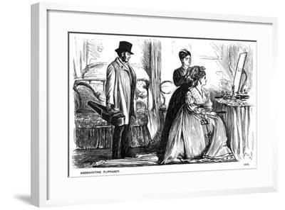 Aggravating Flippancy, 1870-George Du Maurier-Framed Giclee Print