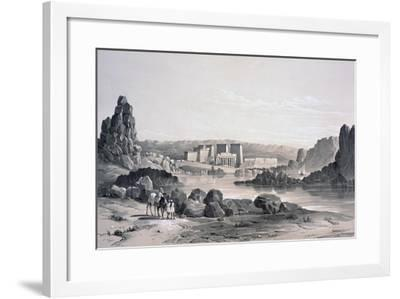 Philae, Looking South, Egypt, 1843-George Moore-Framed Giclee Print